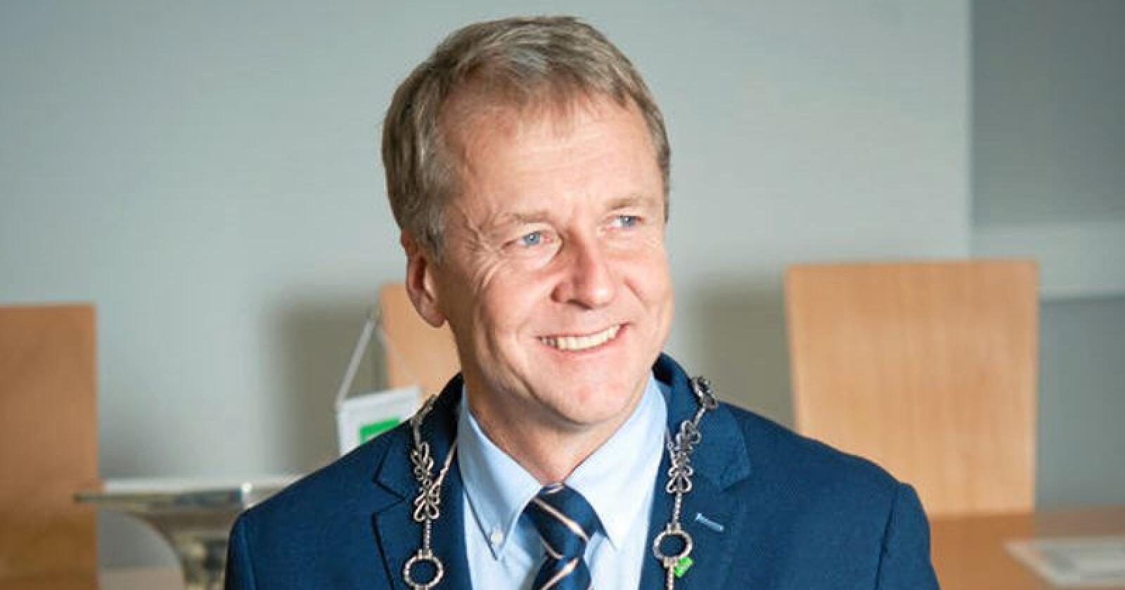 Saxe Frøshaug, Senterpartiet, ser ut til å bli ordfører i nye Indre Østfold kommune. Foto: Trøgstad kommune