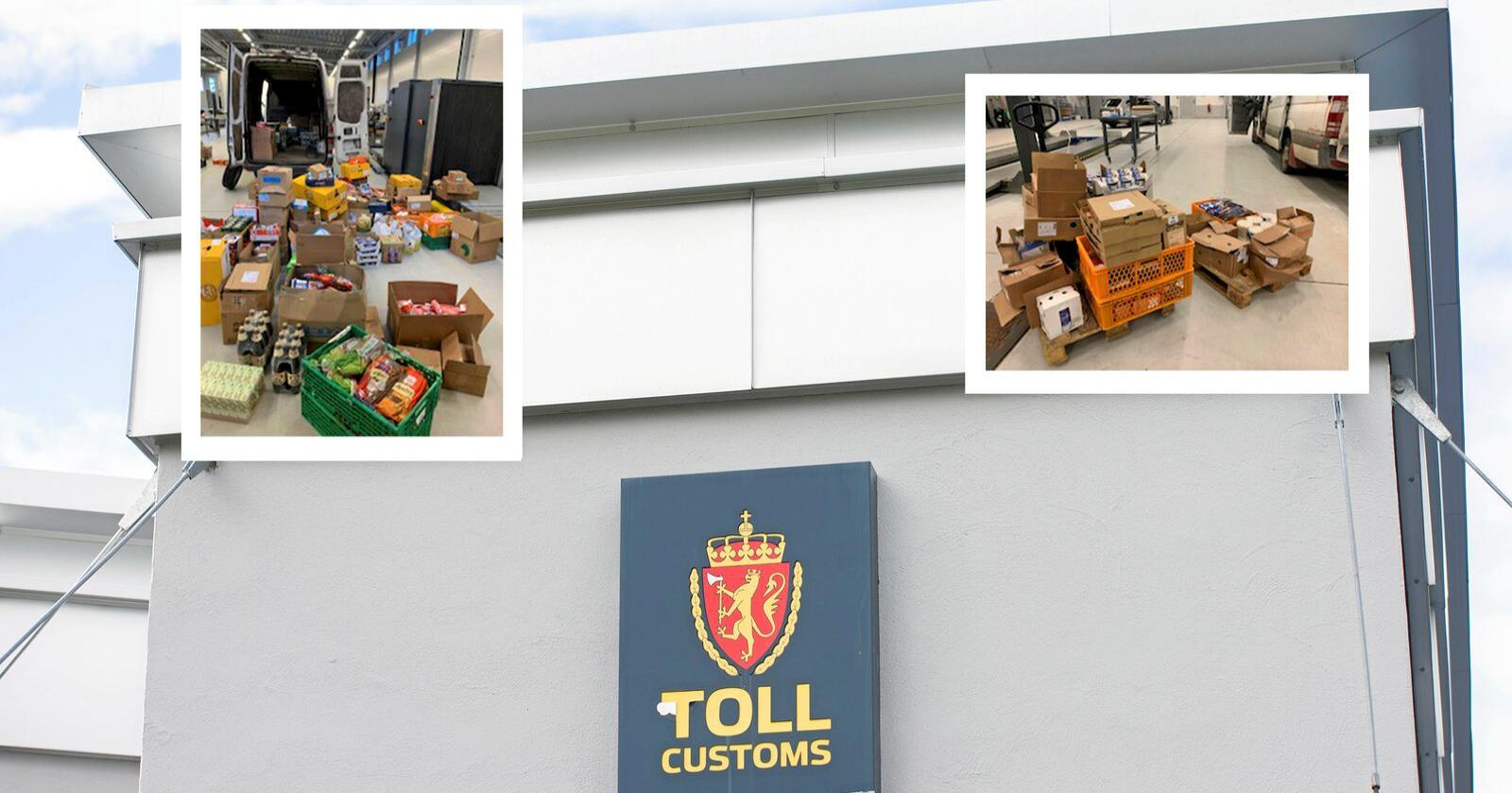 Kjøttbeslag ved tollen i Kongsvinger og Svinesund. Foto: Annika Byrde/NTB og Tolletaten