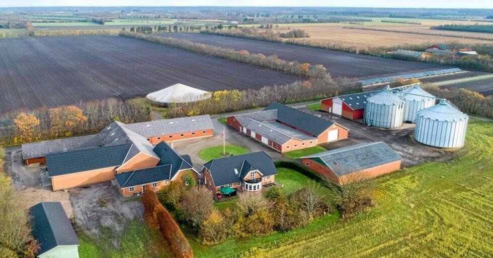 Gadegaard heter gården som selges og er for øyeblikket Danmarks dyreste gård ute til salg. Foto: Landbogruppen