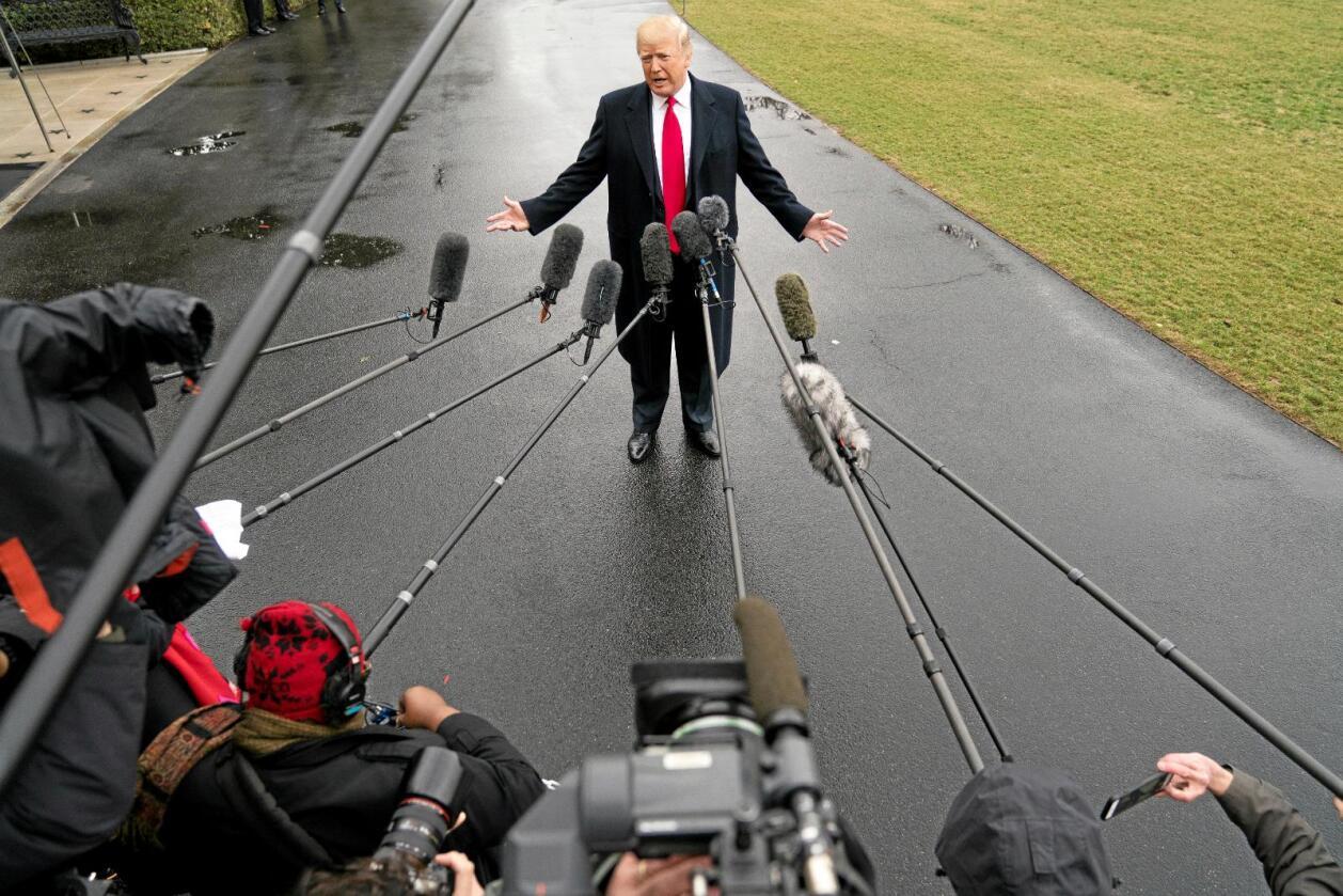 Omstridt: USAs president Donald Trump sier han elsker bønder, men har lagt det kanadiske systemet for markedsregulering av landbruksvarer for hat. Foto: Andrew Harnik / Reuters / NTB Scanpix