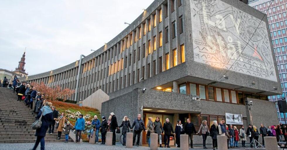 Verdt å verne: Y-blokka er ein av fleire bygningar i regjeringskvartalet i Oslo-sentrum. No har regjeringa avgjort at den skal rivast. Foto: Foto: Håkon Mosvold Larsen / NTB scanpix