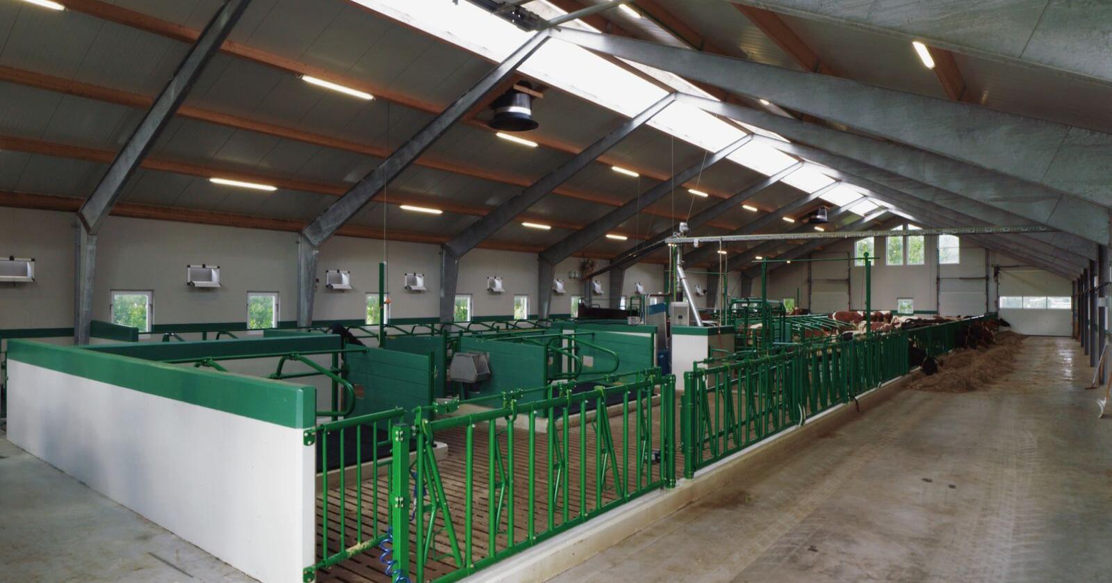 Reime Landteknikk satser tungt på de som ønsker å oppgradere og modernisere melkeproduksjonen, og kan levere både standard og skreddersøm til bøndene. Foto: Reime.