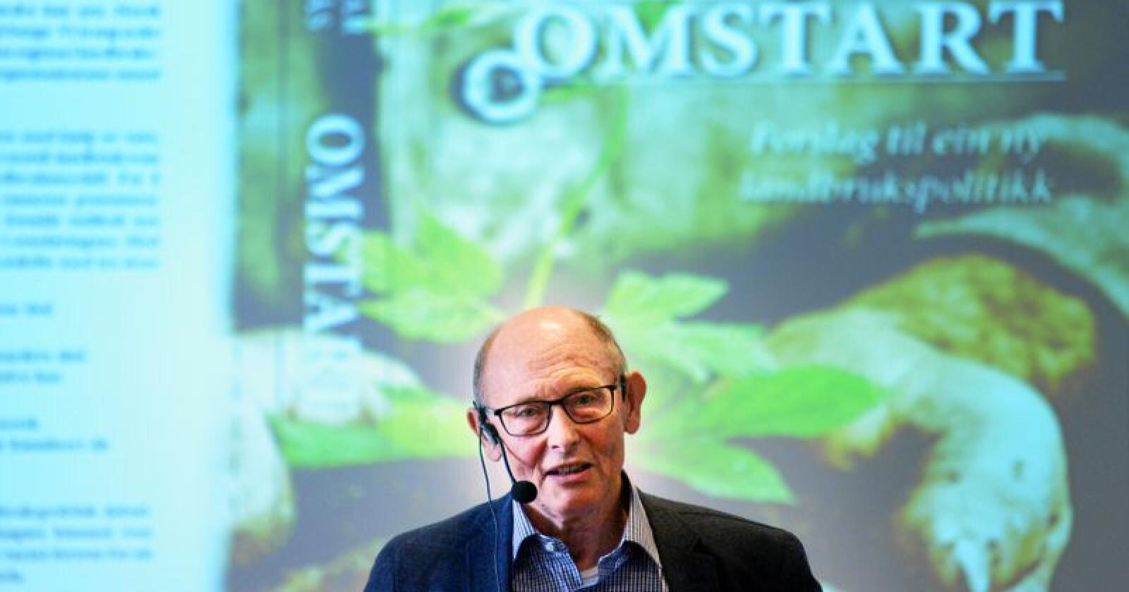 Reidar Almås beskriv kravet frå bøndene i årets jordbruksforhandlingar som eit framhald på reverseringa av Listhaug-lina i landbrukspolitikken. Foto: Siri Juell Rasmussen