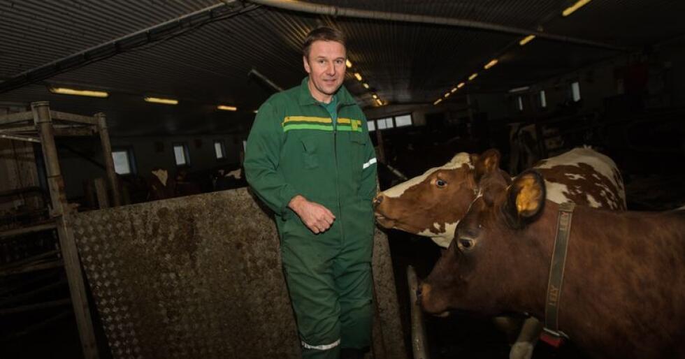 – Etter lang kamp fikk vi staten til å finansiere 200 millioner kroner til utkjøpsordningen for melk, sier bondelagsleder Lars Petter Bartnes. (Foto: Håvard Zeiner)