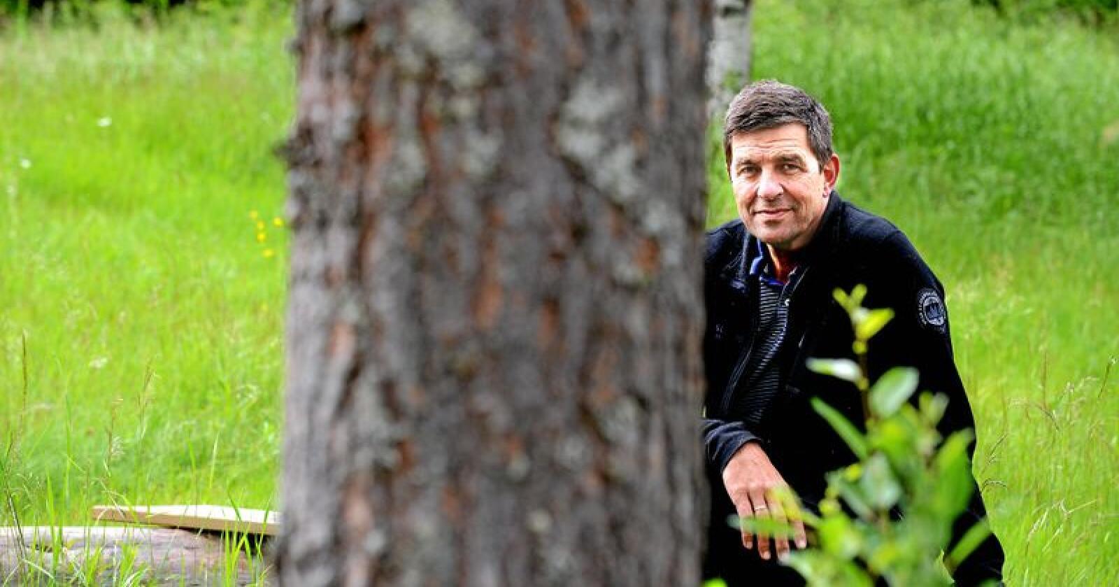 Gunnar Gundersen er næringspolitisk sjef i Glommen Skog og profilert kritiker av rovdyrpolitikken. Foto: Siri Juell Rasmussen