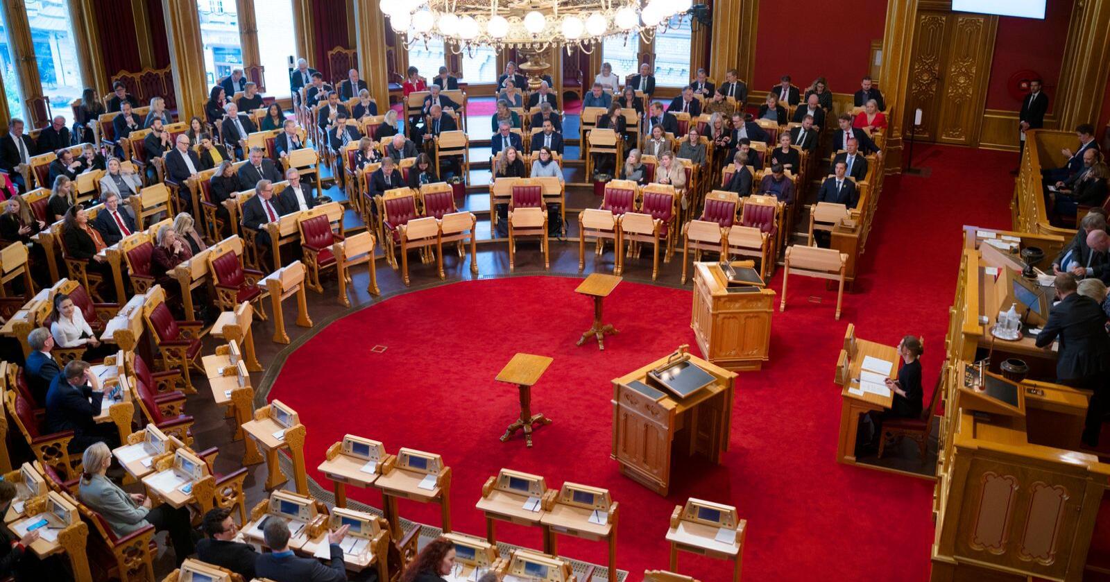 Det 166. storting ble konstituert lørdag. Foto: Fredrik Hagen / NTB