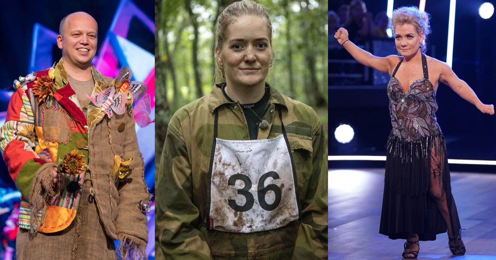 Både Trygve Slagsvold Vedum, Emilie Enger Mehl og Sandra Borch fra Senterpartiet har deltatt i flere realityserier på TV. Foto: Julia Marie Naglestad (NRK)/Espen Solli/Matti Bernitz (TV 2)
