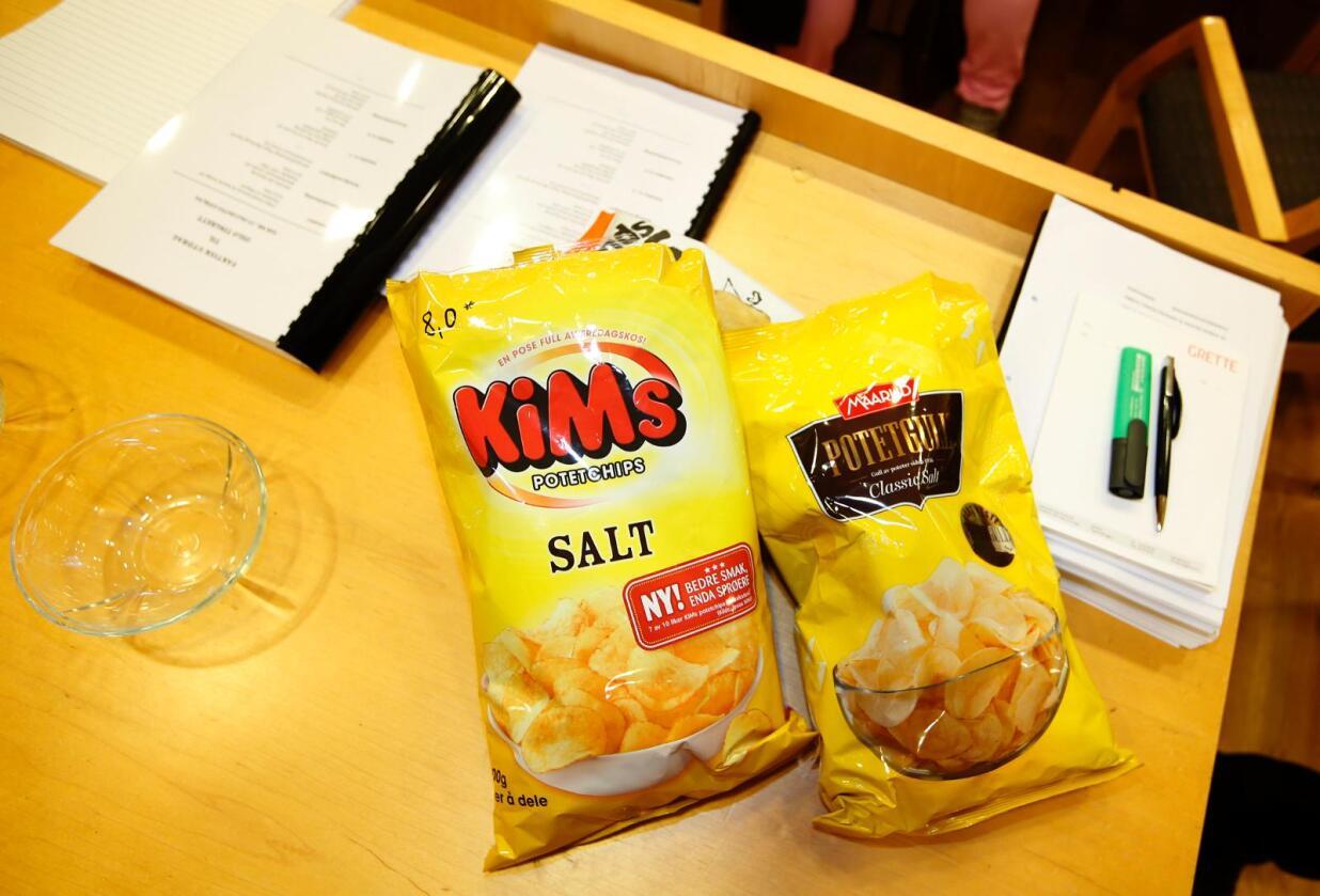 Dommerne i Borgarting lagmannsrett har avgjort striden mellom to chipsfabrikanter. Begge får lov til å bruke ordet «potetgull», mener retten. Foto: Vidar Ruud / NTB scanpix