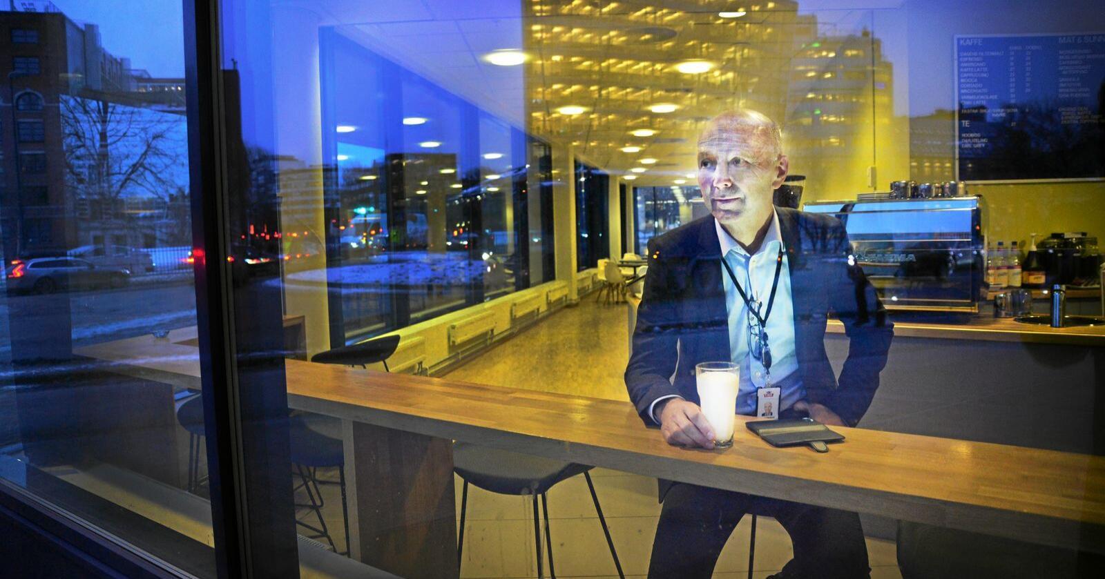 Gunnar Hovland er konsernsjef i Tine, og vil ha med seg flest mulig melkebønder framover. Foto: Siri Juell Rasmussen