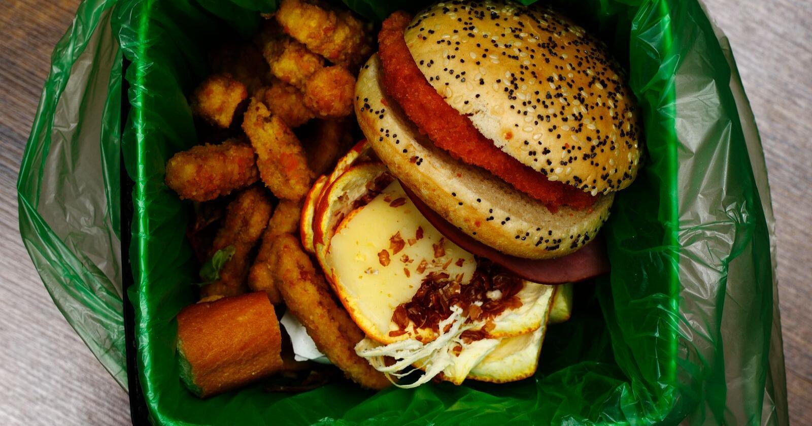 Store mengder mat ender i søpla hver dag. Foto: Mostphotos