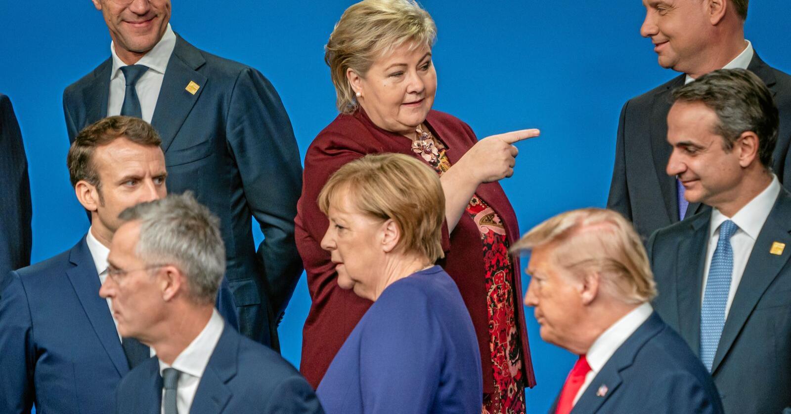 Mindre føreseieleg: Det mektigaste landet i verda er styrt av ein president som kommuniserer utan filter på Twitter. Kva retning vil verda ta? Foto: Heiko Junge / NTB scanpix