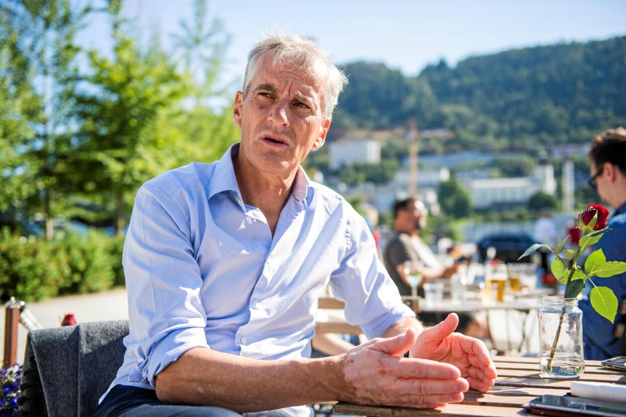 Vinner han regjeringsmakten i høst, vil Ap-leder Jonas Gahr Støre se med et kritisk blikk på Norges plan om klimasamarbeid med EU. Foto: Jon Olav Nesvold / NTB scanpix