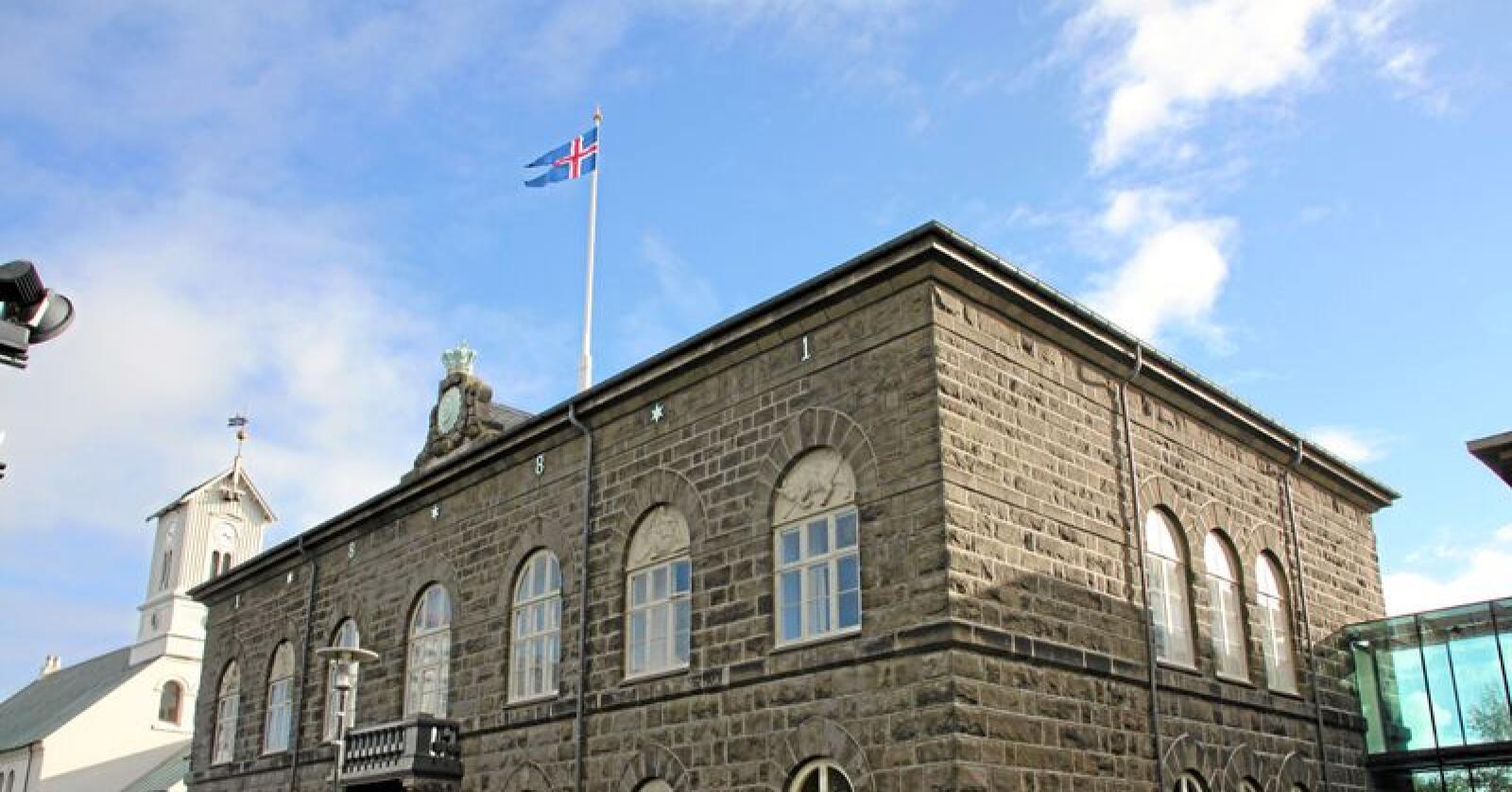 Alltinget på Island skal røyste over EUs tredje energimarknadspakke. Foto: Lars Billit Hagen