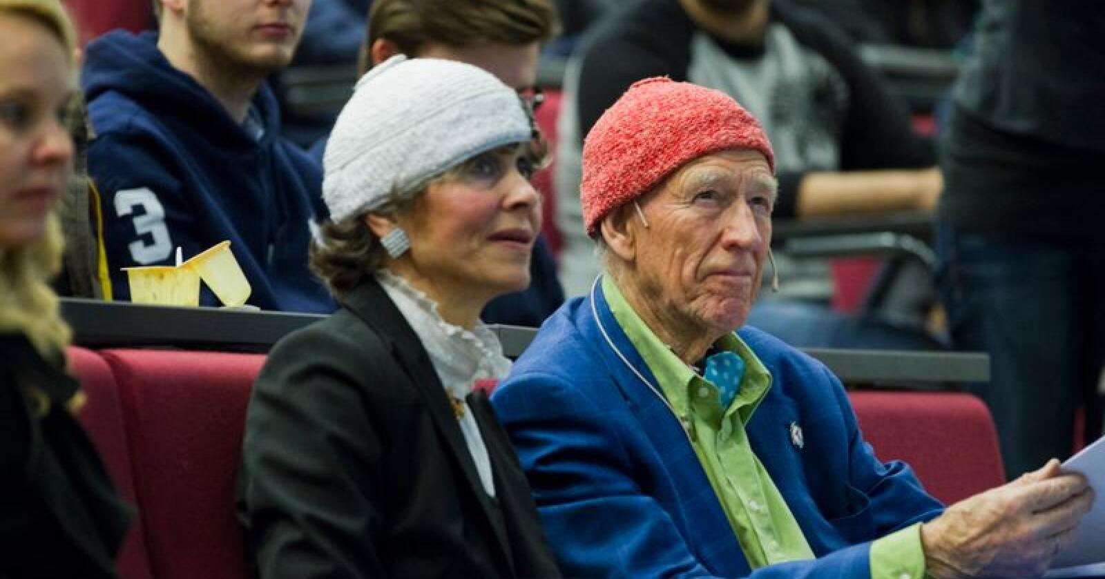 Næringslivsleder Olav Thon skal gifte seg med kjæresten Sissel Berdal Haga i sommer. Foto: Berit Roald / NTB scanpix