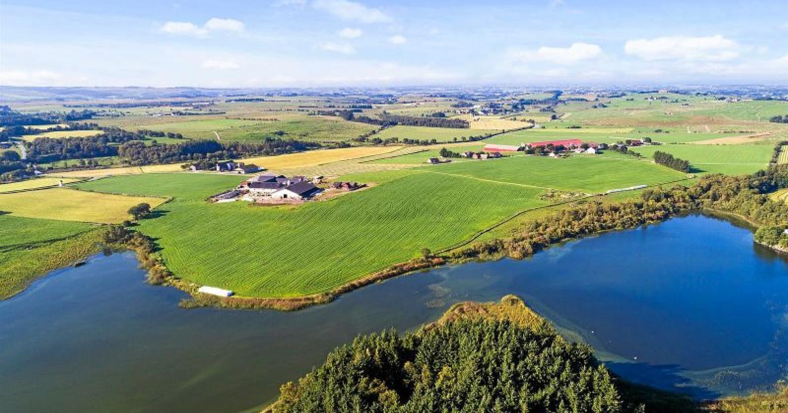 Konkursgården på Jæren senker prisen med ni millioner. Foto: Eiendomsmegler 1.
