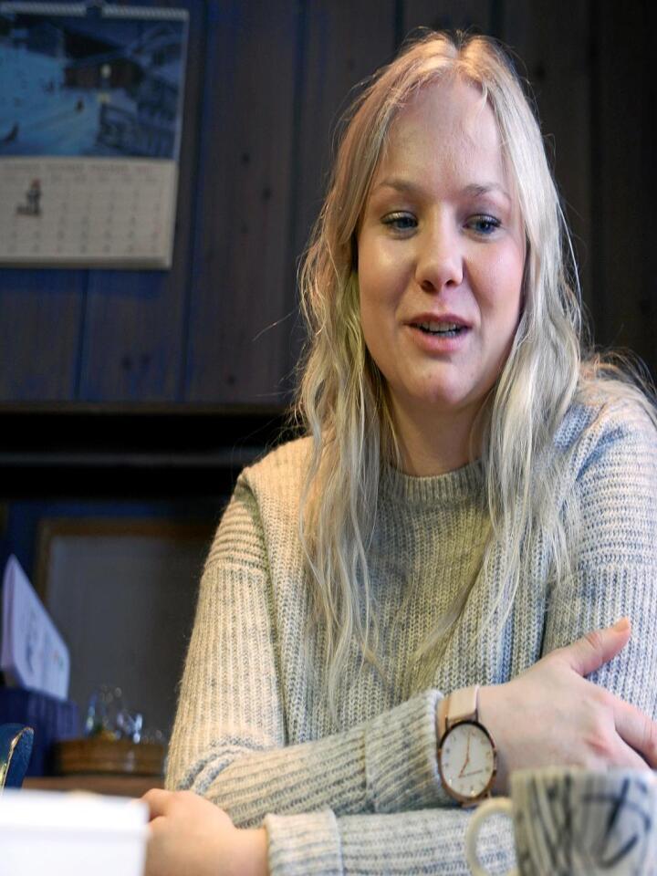 Veggen: Therese Rudi gikk fra full fart til full stopp i januar i år. Foto: Mariann Tvete