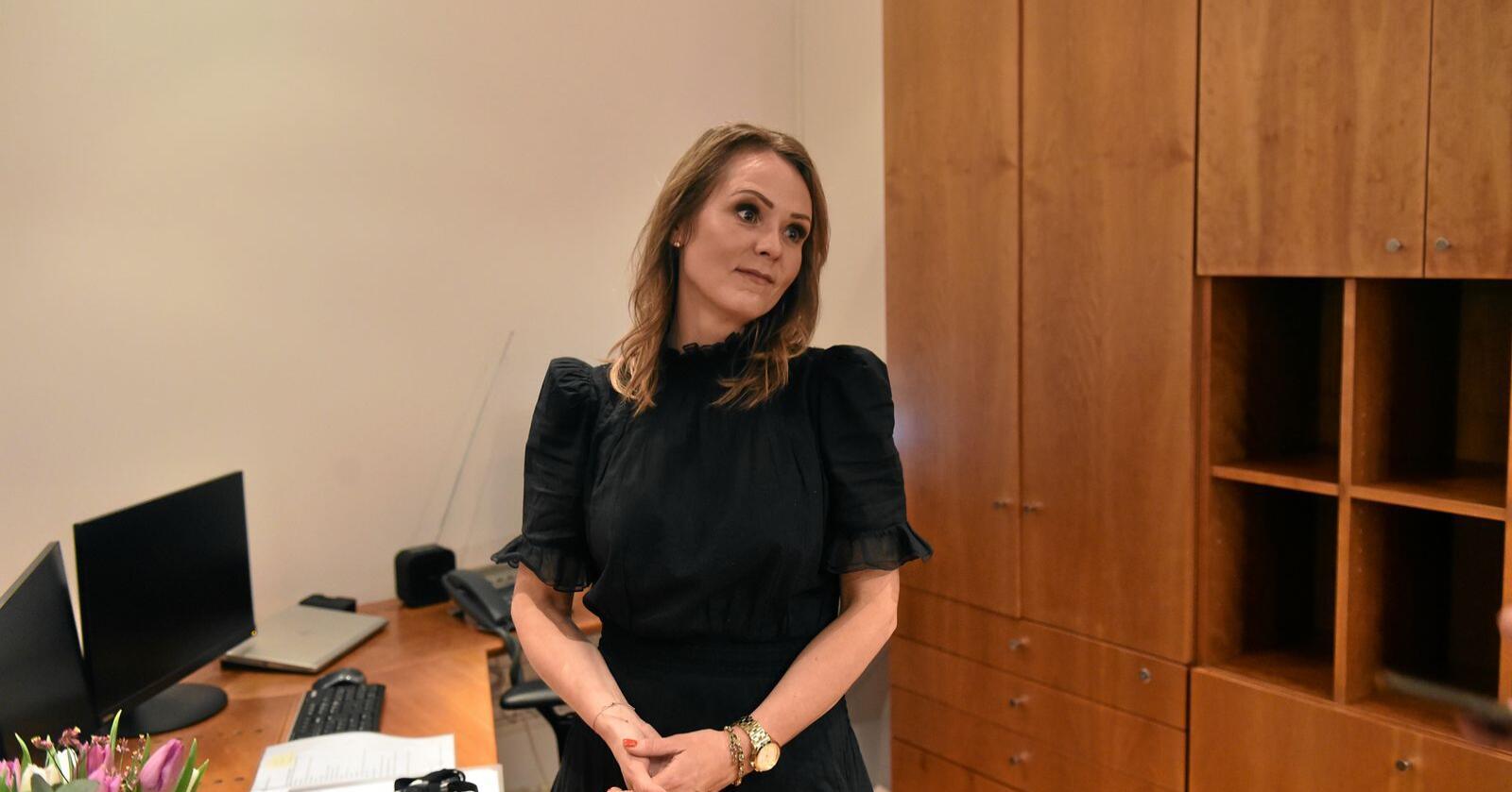Minister: Linda Hofstad Helleland (H) vart i midten av januar utnemnt som distriktsminister. Foto: Fredrik Varfjell / NTB Scanpix