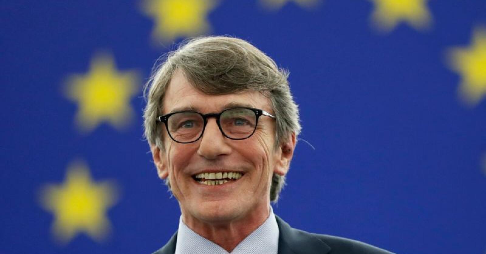 Italienske David-Maria Sassoli er valgt til ny president i EU-parlamentet. Foto: Jean-François Badias / AP / NTB scanpix