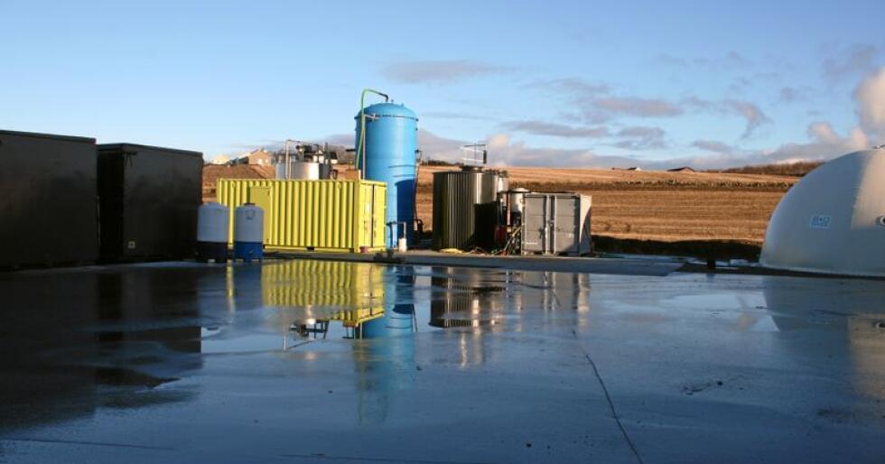 Biogassanlegg på Jæren, Rogaland. Foto: Bjarne Bekkeheien Aase