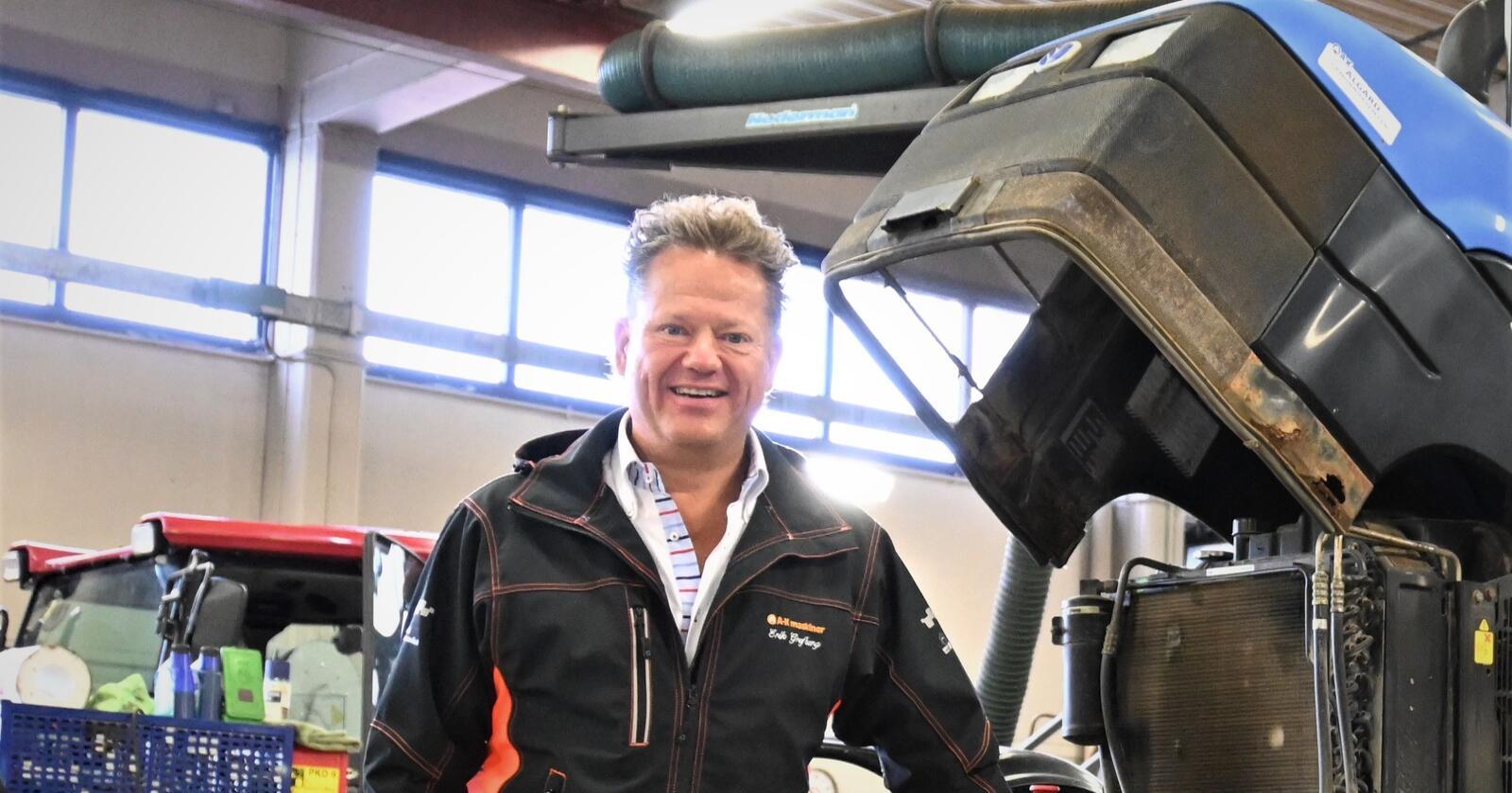 Tap: A-K maskiner tapte penger i 2020, og administrerende direktør Erik Grefberg forklarer årsakene.