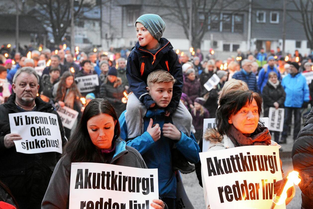 Mandag møter en delegasjon fra Indre Hardanger og andre sykehusaksjonister til demonstrasjon utenfor Stortinget. Foto: Siri Juell Rasmussen