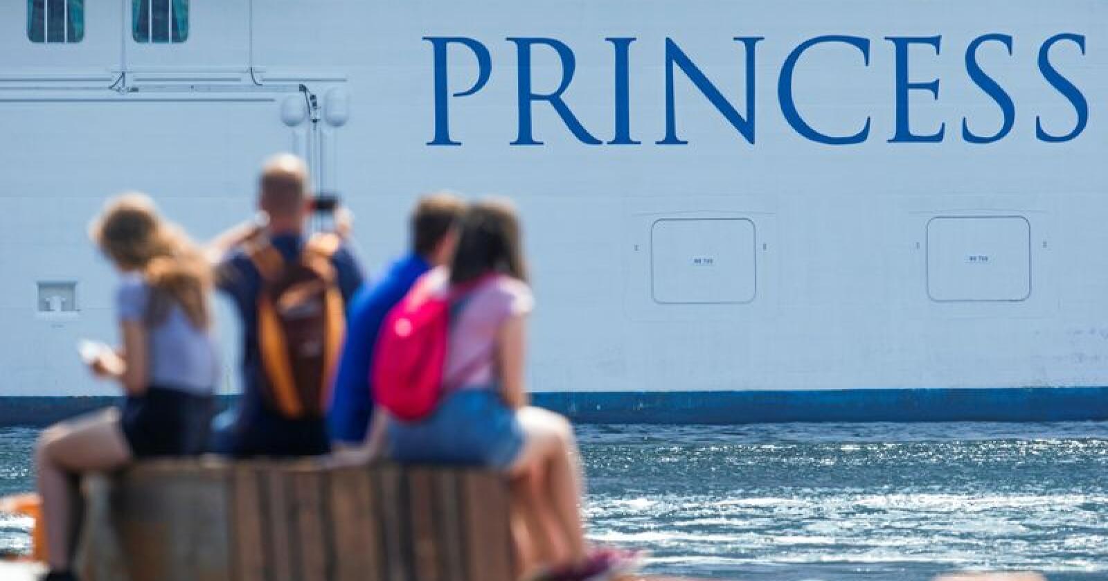 "Cruisebåten ""Regal Princess"" på besøk i Oslo. Foto: Trond Reidar Teigen / NTB scanpix"