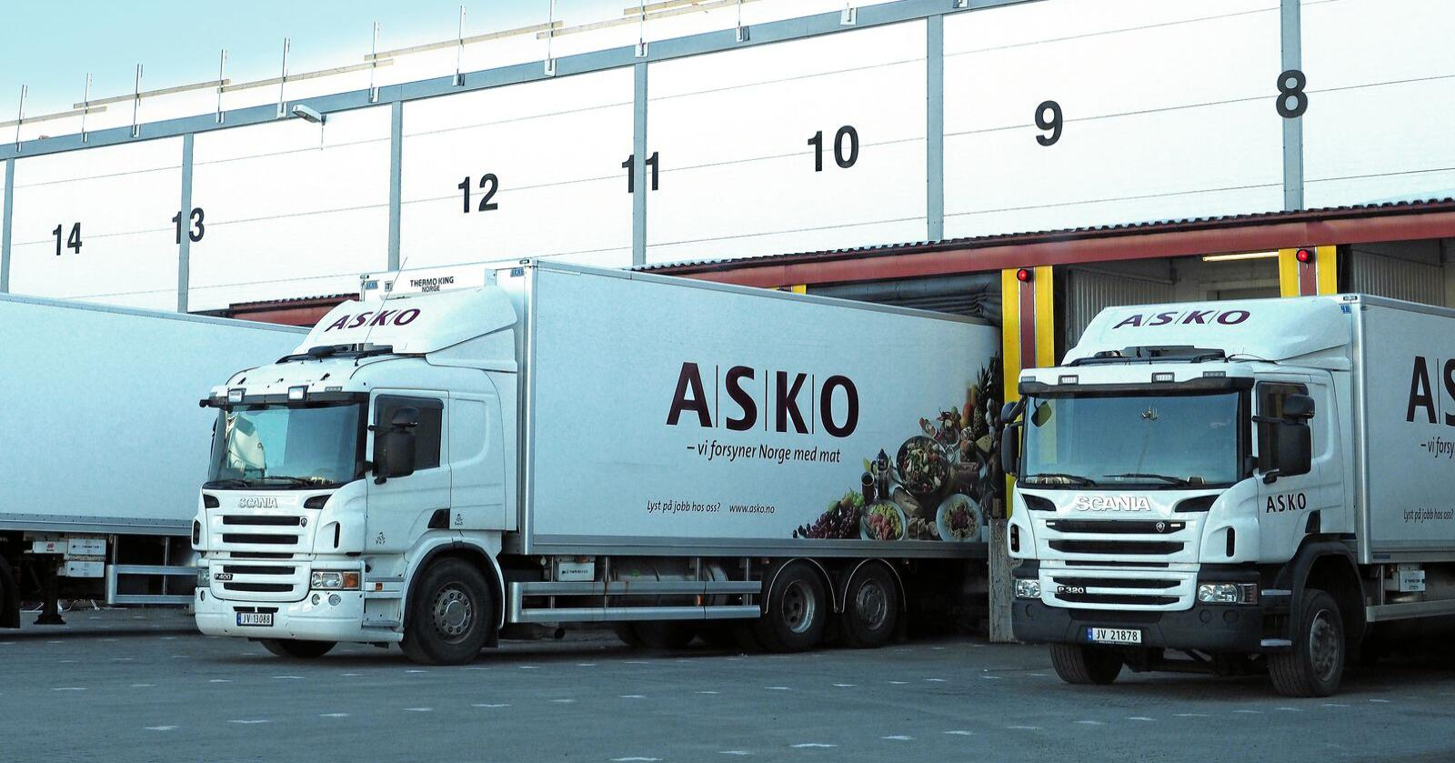Asko leverer blant annet en rekke matvarer over hele landet. Foto: Siri Juell Rasmussen