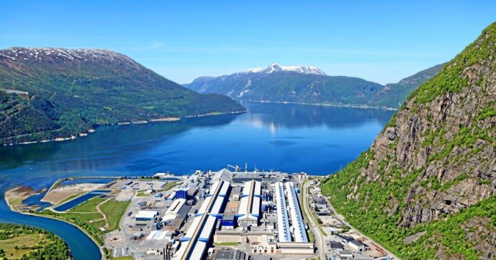 Industri på Vestlandet: Hydro aluminium, Sunndal Verk. Opprinnelsesgarantiene kan true norsk industri. Foto: Harald M. Valderhaug