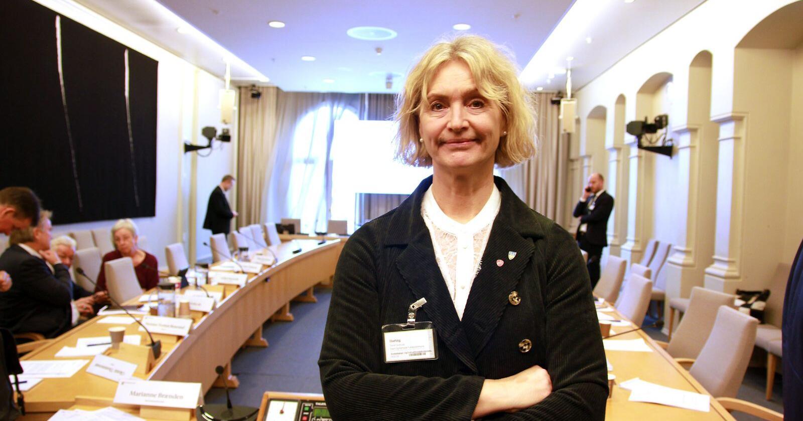 Tove-Lise Torve, fylkesordførar Møre og Romsdal, er ikkje nøgd med tilbodet frå departementet. Foto: Anne Sigrid Hundere / NPK