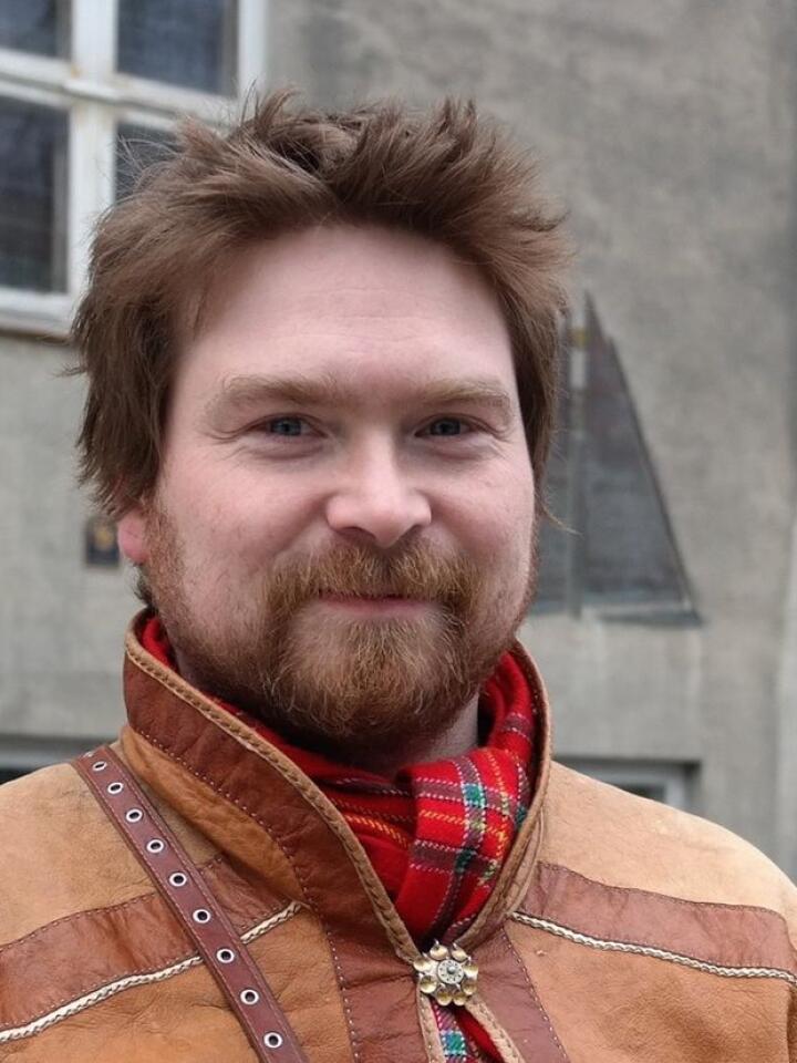 Fra 2014 til 2018 var Beaska Niillas leder for Norske Samers Riksforbund. Foto: NSR