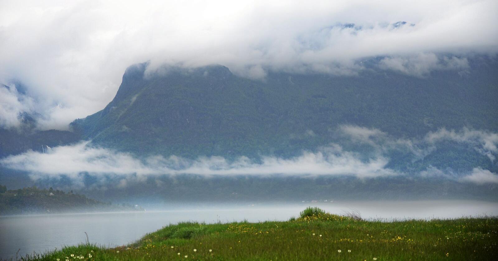 Distrikt: Dei småe bygdesentra og gardsbruka mellom fjord og fjell er den norske populismen. Foto: Siri Juell Rasmussen