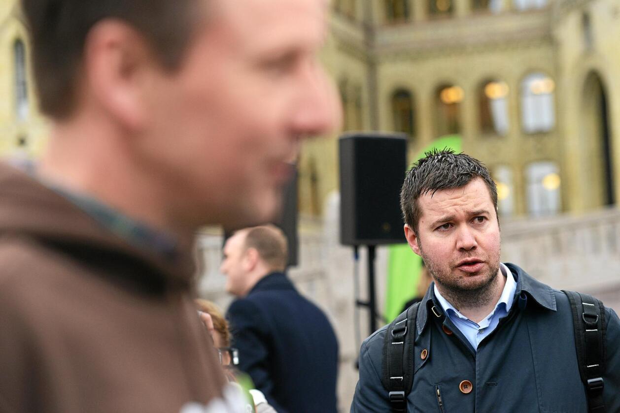 – Bøndene ofret: Geir Pollestad i Senterpartiet mener Venstre har ofret jordbruket av blokktaktiske hensyn. Foto: Siri Juell Rasmussen