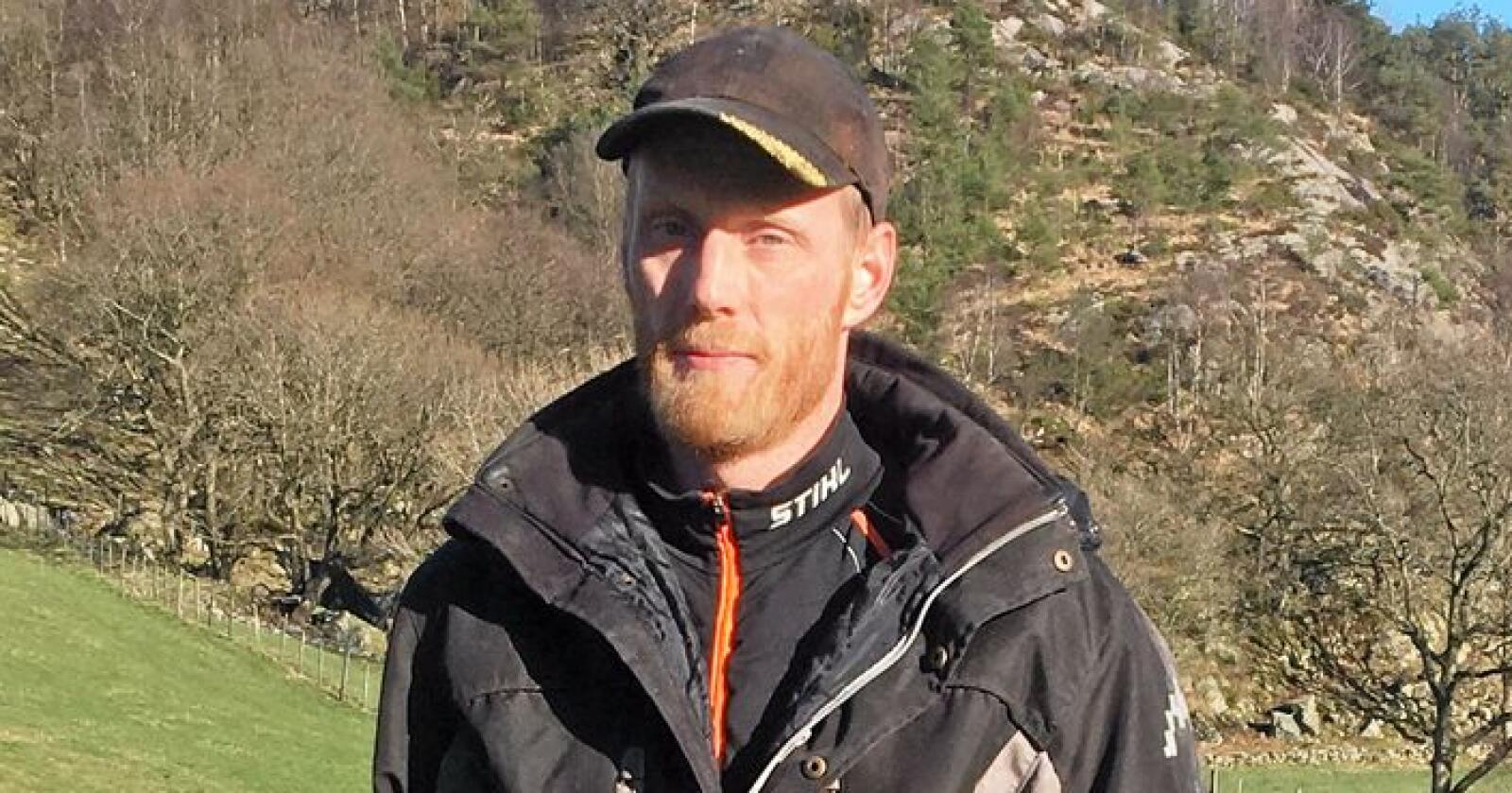 Sven Martin Håland fra Jæren er en av fem bønder som står bak bondeopprøret, som nå har samlet nærmere 25.000 underskrifter. Foto: Privat