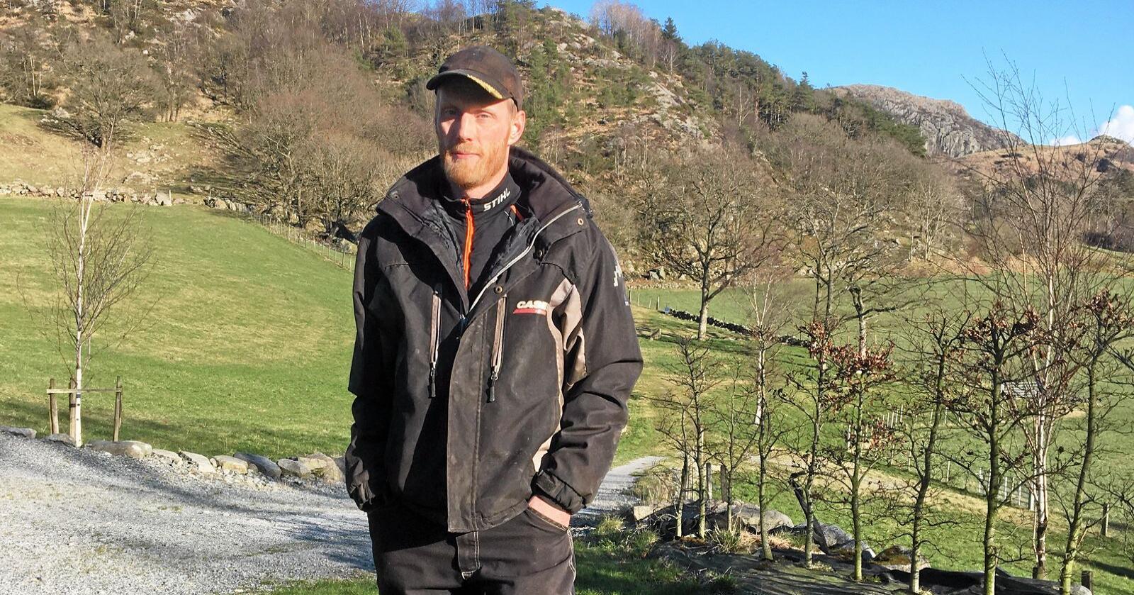 Sven Martin Håland er en av initiativtakerne bak bondeopprøret. Nå viser Nationen-undersøkelse at tre av fire støtter opprøret. Foto: Privat