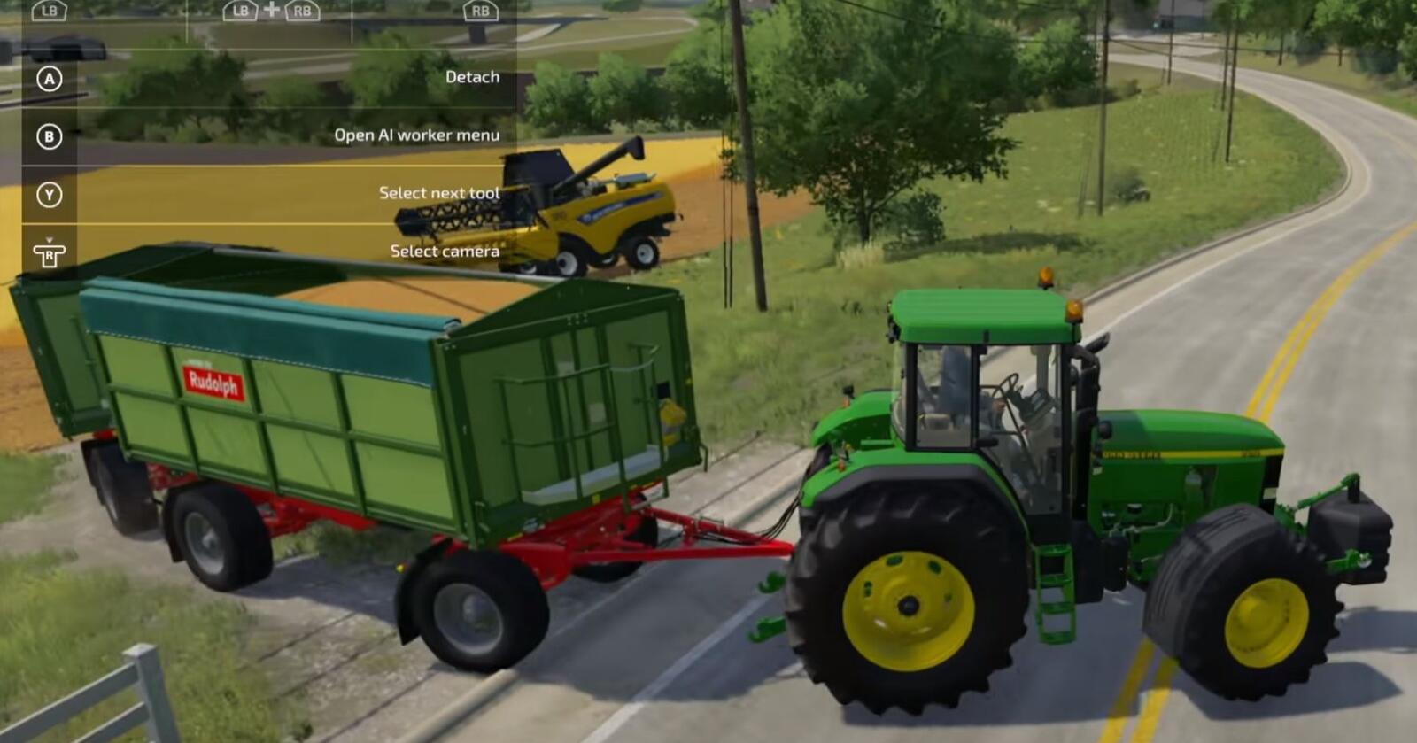 Farming simulator 2022 kan friste med bedre visuelle effekter og nye maskiner. Her er en skjermdump fra spilldemoen.