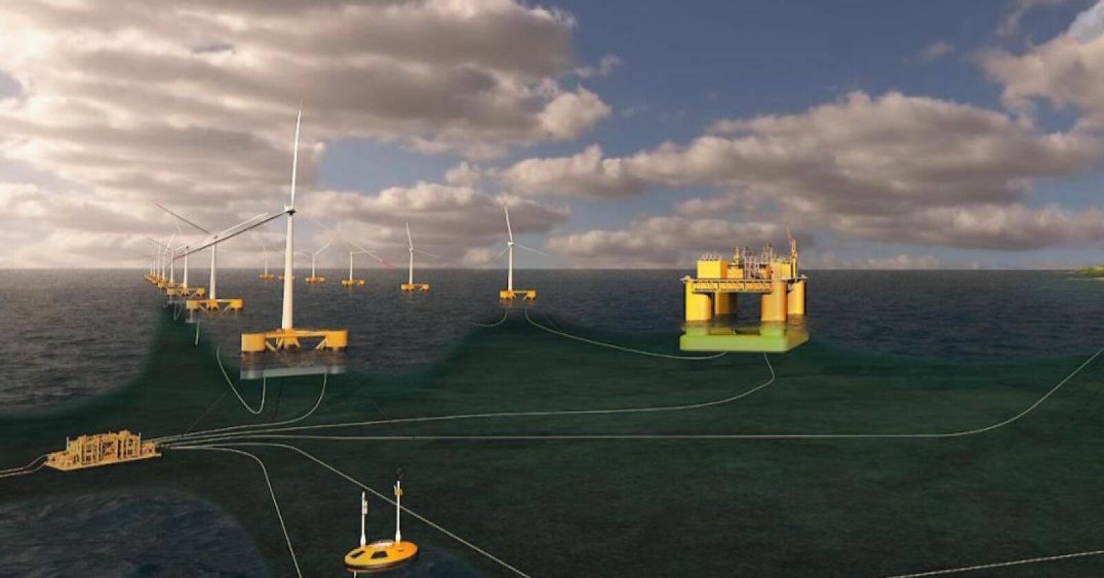 Aker offshore wind ønsker å bygge marine næringsparker ved å samlokalisere flere typer næringer rundt havvindkraft- anlegg