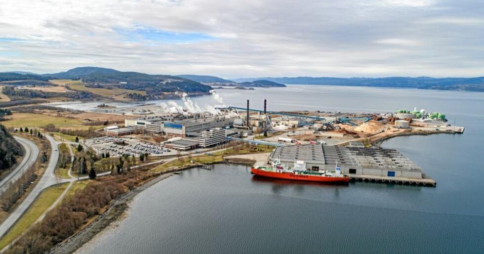 Fabrikkanlegget på Skogn. Foto: Håvard Zeiner