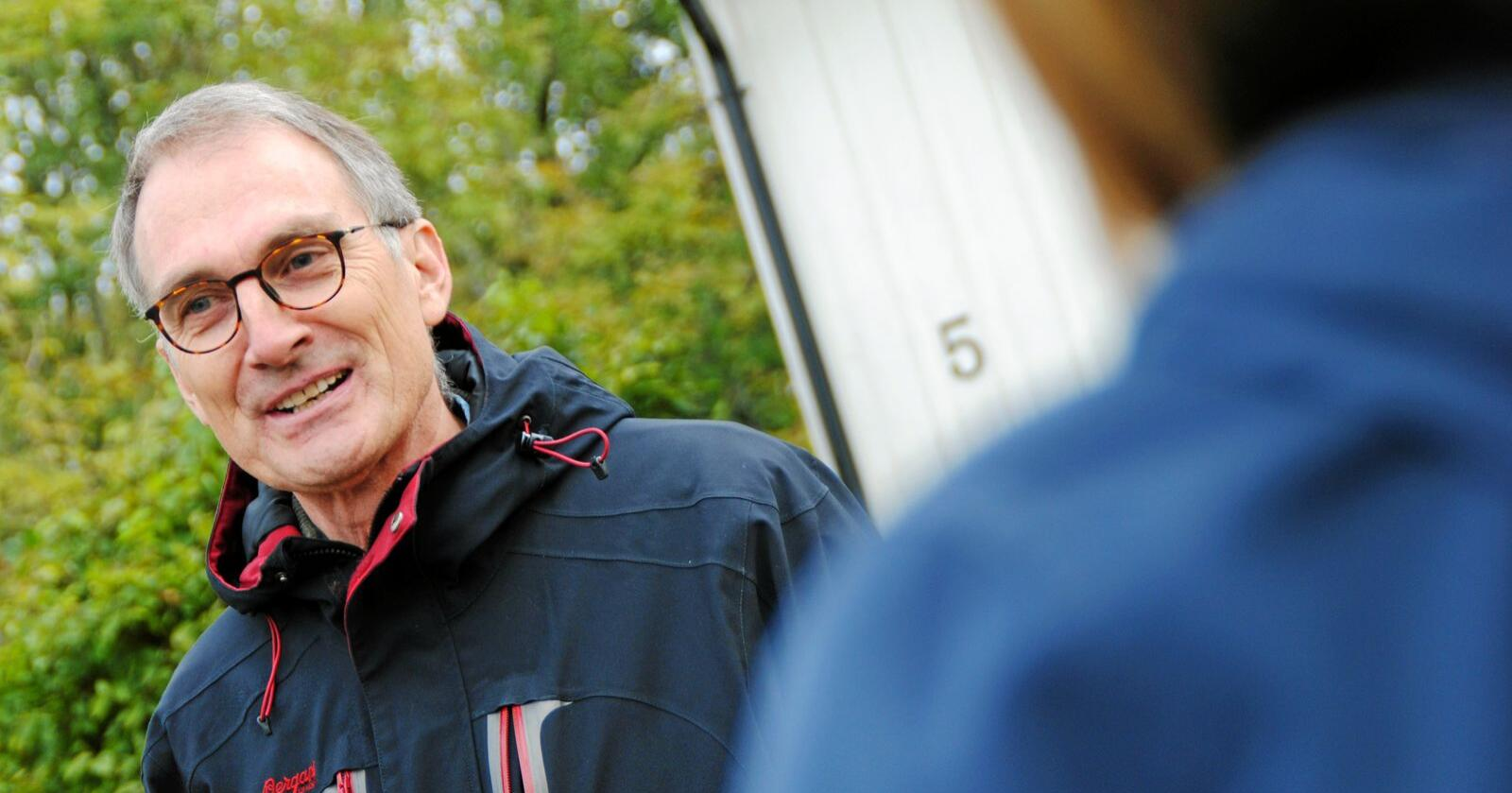 Landbrukspolitisk talsperson for Miljøpartiet De Grønne, Harald Moskvil, er selv bonde. Foto: Lars Bilit Hagen