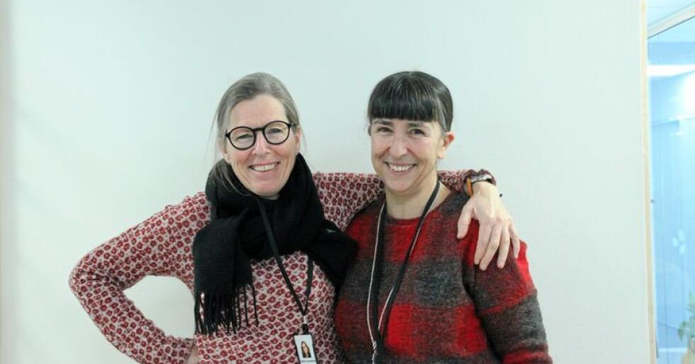 Cesilie Aurbakken (t.v.) og Sosan Asgari Mollestad i Norges Bygdekvinnelag har nye mål for prosjektet KvinnerUt i 2019. Foto: Hanna Taugbøl