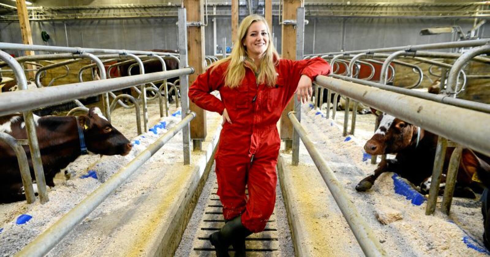 Emilie Enger Mehl (Sp) vil at sauebønder i Nord-Østerdalen som ble rammet av ulveangrep i fjor skal få samme type kompensasjon som ble utbetalt til bønder på Toten og Hadeland etter sommeren 2016. Foto: Mariann Tvete