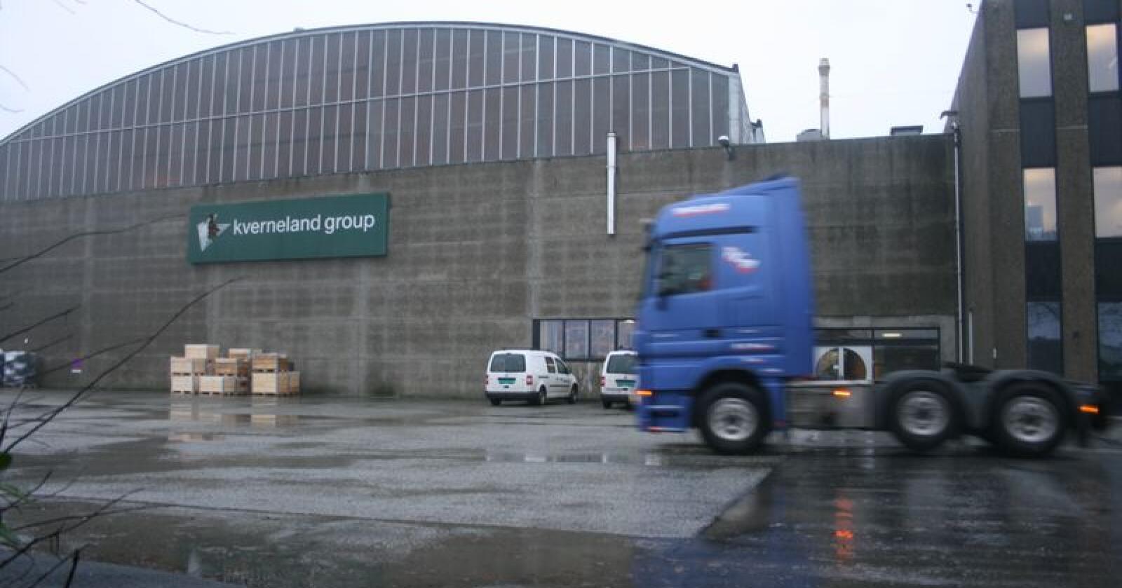 Kverneland Group Klepp er verdas største plogfabrikk. No må dei permittere endå fleire tilsette. Foto: Bjarne Bekkeheien Aase