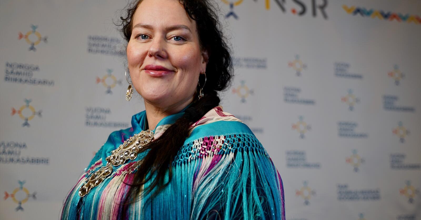 Trenger folk: Silje Karine Muotka er NSRs presidentkandidat. Foto: NSR