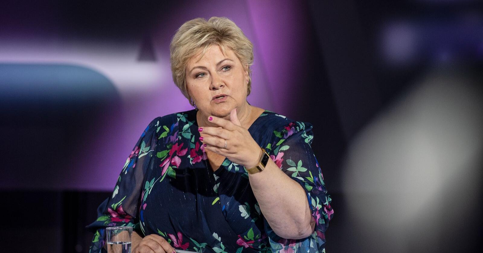 Vrakes av velgerne: Statsminister Erna Solbergs regjeringsprosjekt er dødt, mener Nationens politiske redaktør. Foto: Marit Hommedal / NTB