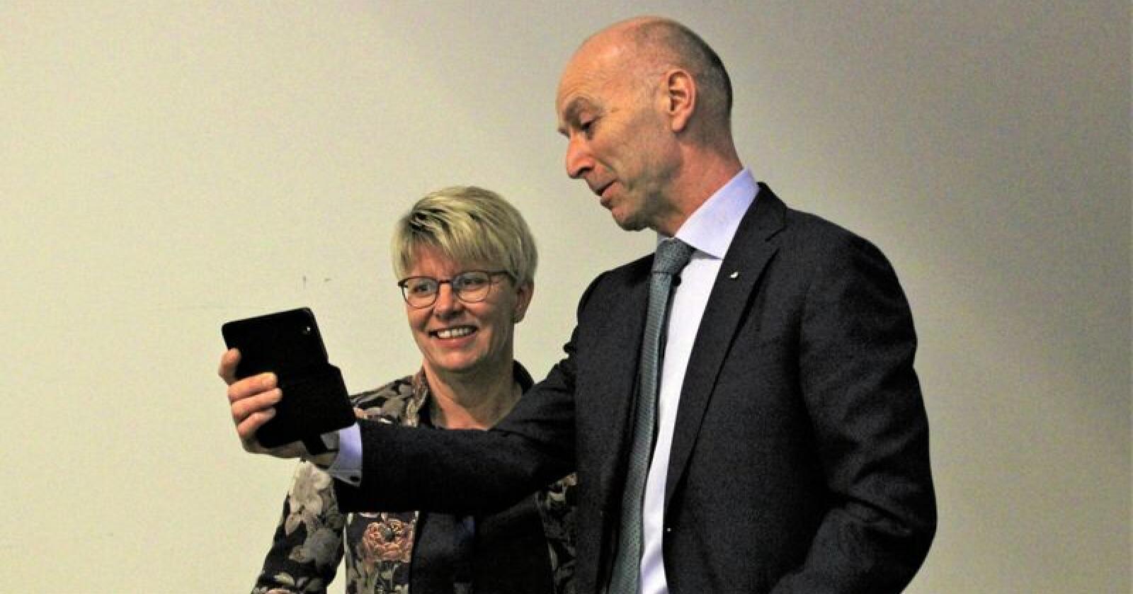 Marit Haugen skal nå lede Tine sammen med og konsernsjef Gunnar Hovland. Hovland gikk inn i stillingen i januar. Foto: Jon-Fredrik Klausen