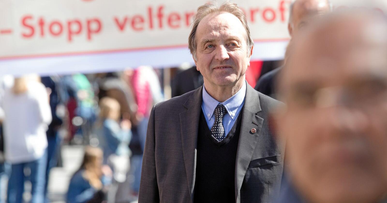 Roy Pedersen, leiar for Nei til EU. Foto: Audun Braastad / NTB