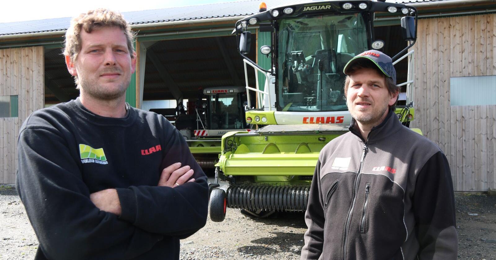 TEMPO: Asbjørn Velde (t.v.) og Harald Velde utgjer to tredeler av Tempo Gras i Vindafjord. Foto Dag Idar Jøsang