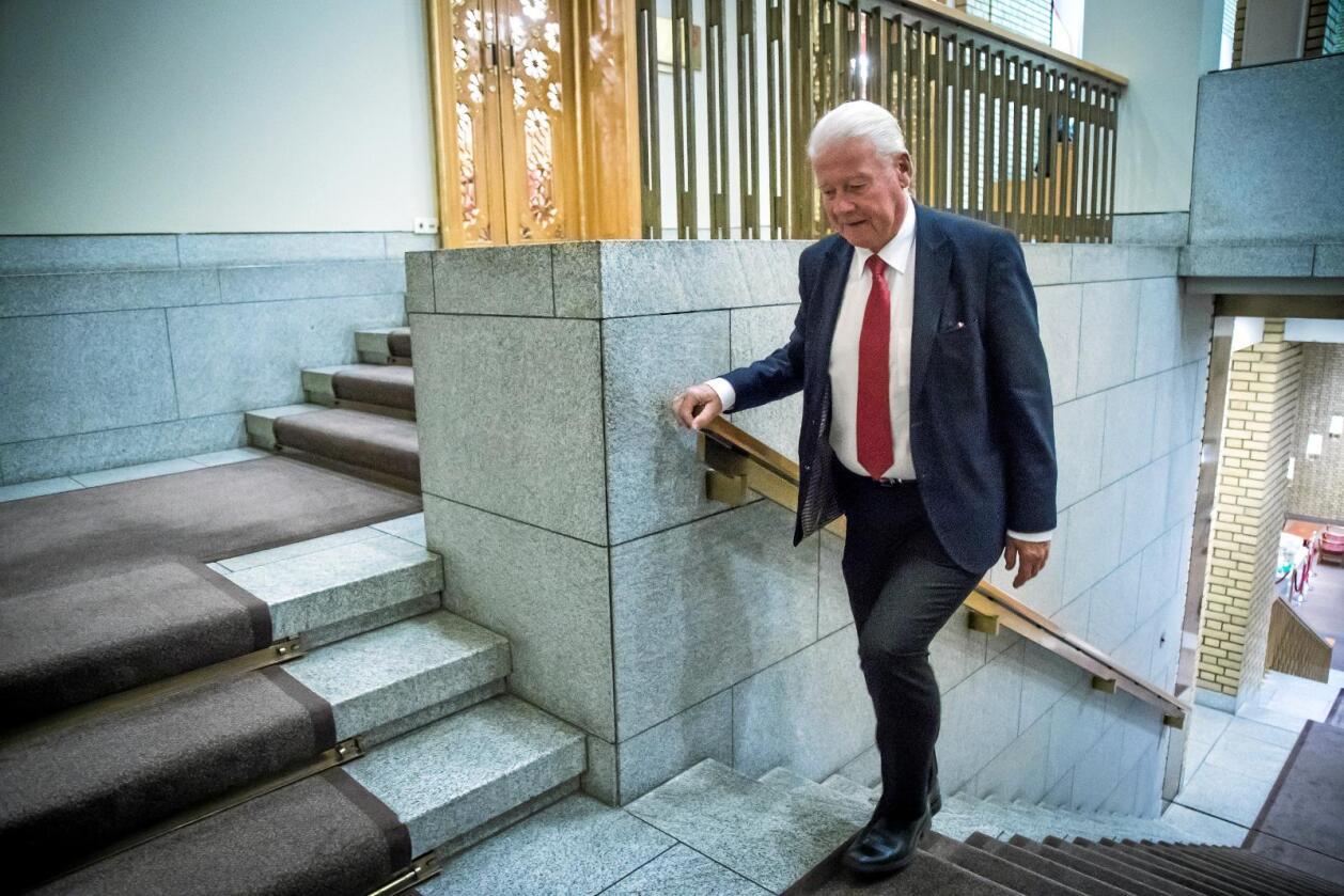 Carl Ivar Hagen, tidligere leder og stortingsrepresentant for Frp. I dag er han vara til Stortinget og sitter i bystyret i Oslo. Foto: Heiko Junge / NTB scanpix