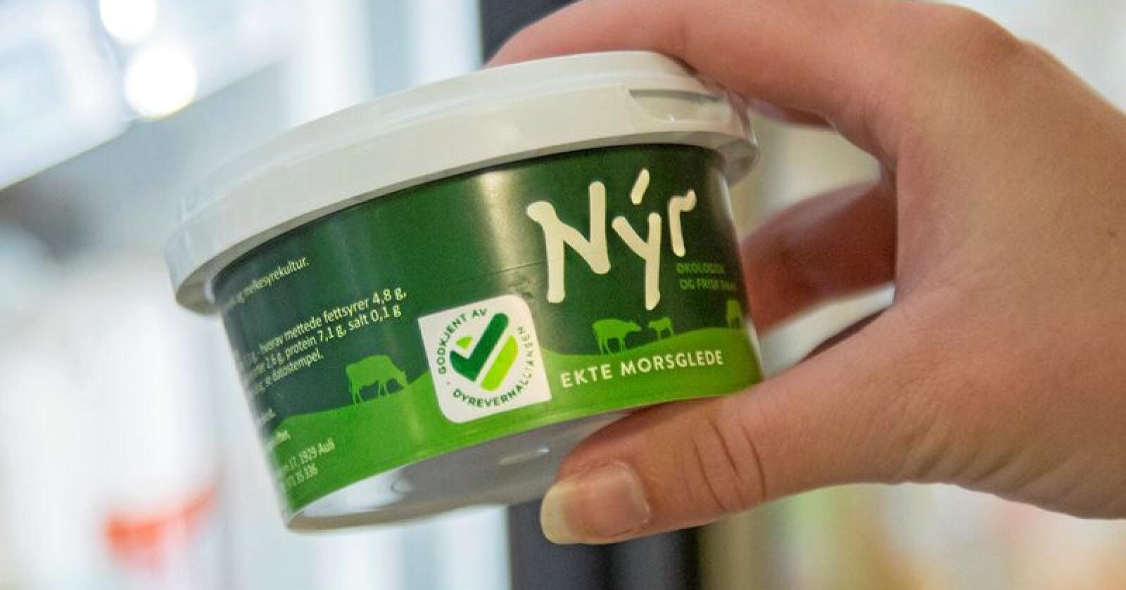 Dyrevernalliansen har presentert en ny merkeordning. Forbrukeren skal kunne se at maten er produsert på en dyrevennlig måte. Foto: Dyrevernalliansen
