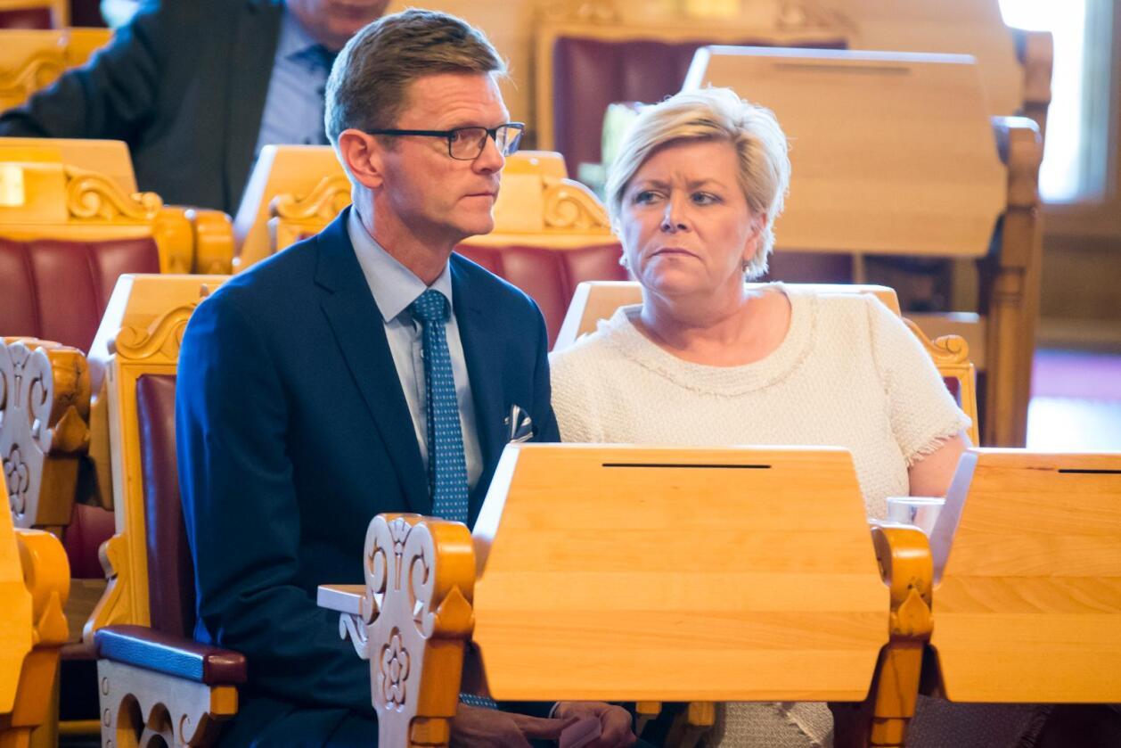 Venstre-nestleder Terje Breivik sies å ha vært skeptisk til å gå i regjeringsforhandlinger med Frp-leder Siv Jensen og Høyre. Foto: Håkon Mosvold Larsen / NTB scanpix