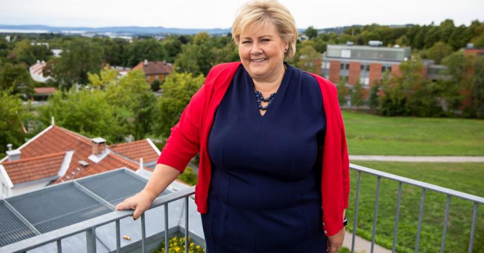 Høyre-leder og statsminister Erna Solberg startet den politiske høsten med å samle toppene i partiet i Forskningsparken i Oslo. Foto: Tore Meek / NTB scanpix